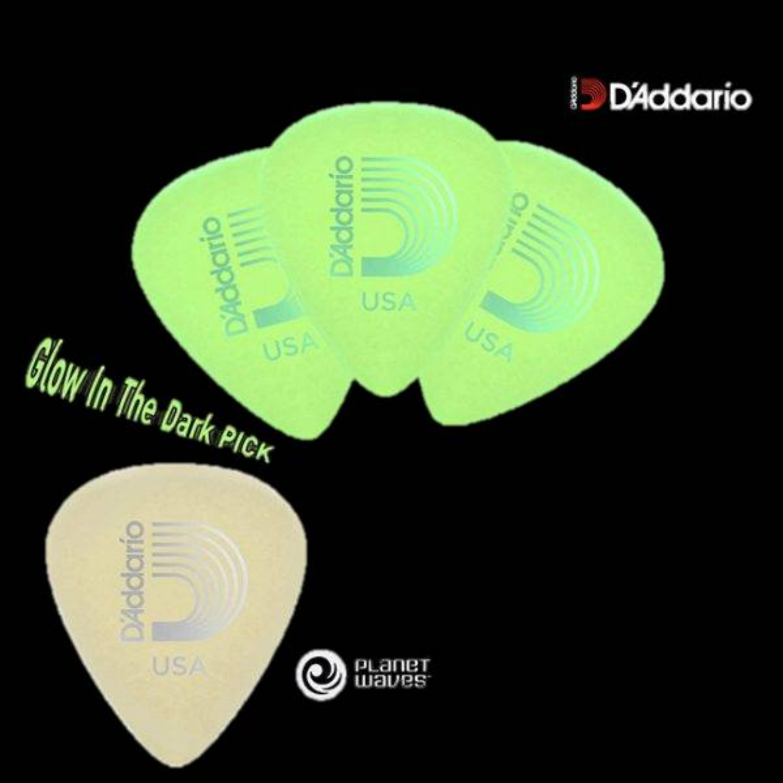 D'Addario Cellu-Glo (Glow in the Dark) Guitar Picks (10pc)