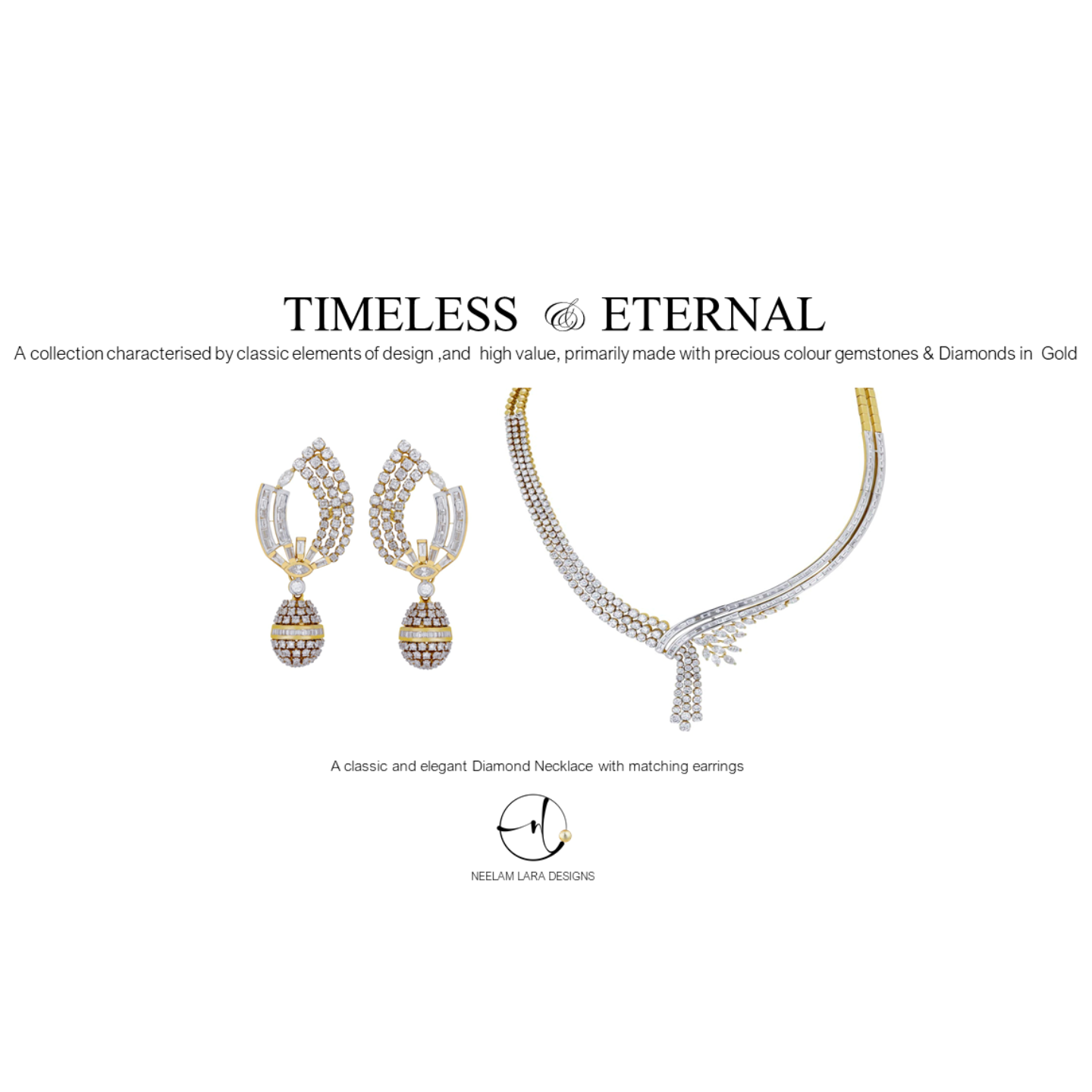 Elegant Diamond Necklace and Earrings