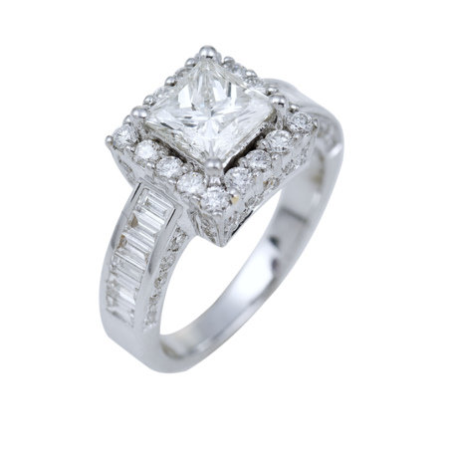 Diamond solitaire Engagement or wedding   rings-Cluster Ring,Linear ring, stackable ring