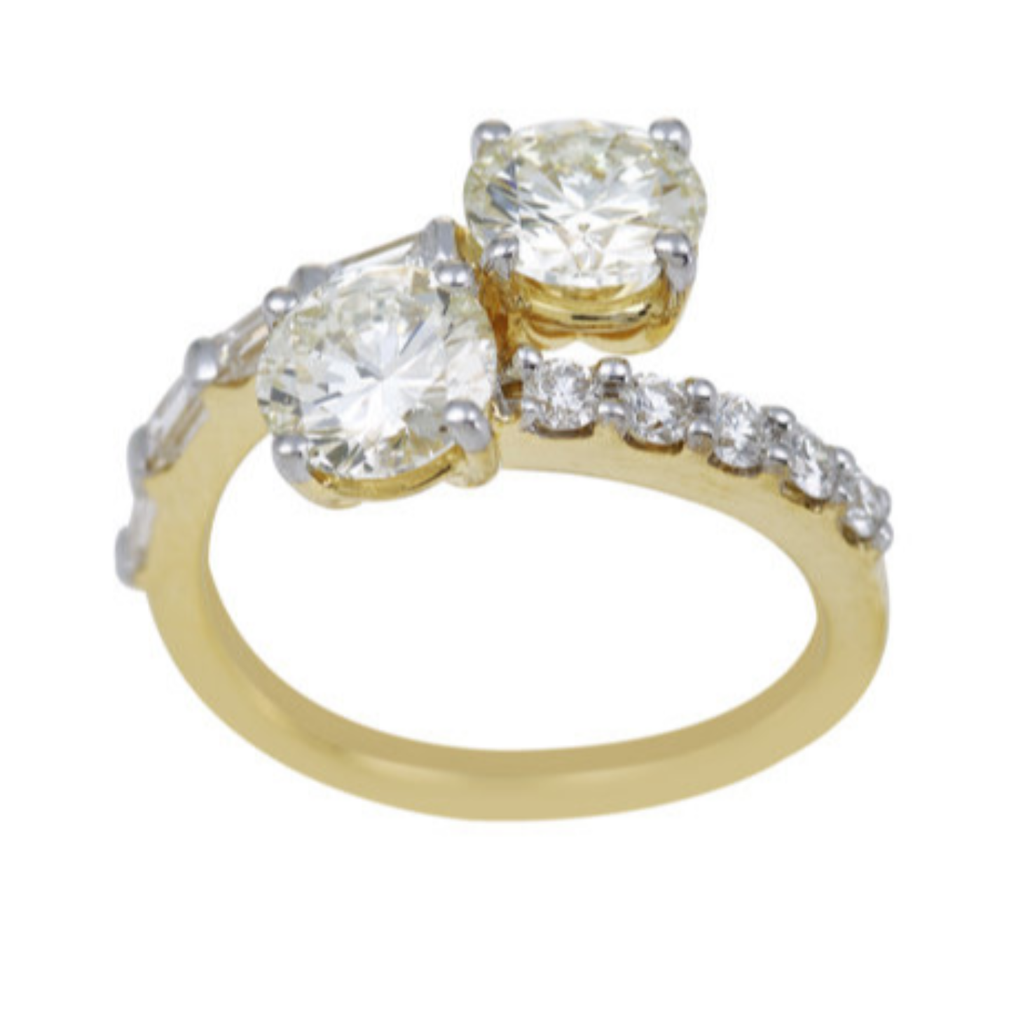 Eternal Diamond solitaire Engagement and wedding rings - Cluster Ring, Linear ring, Stackable ring