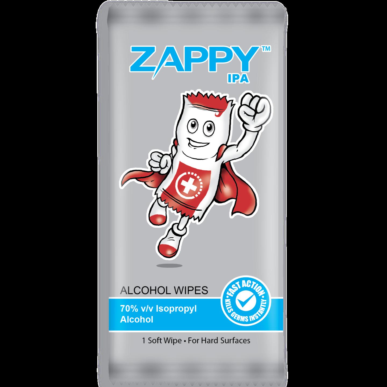 Zappy IPA Alcohol Wipes 1s x 100 Sheets