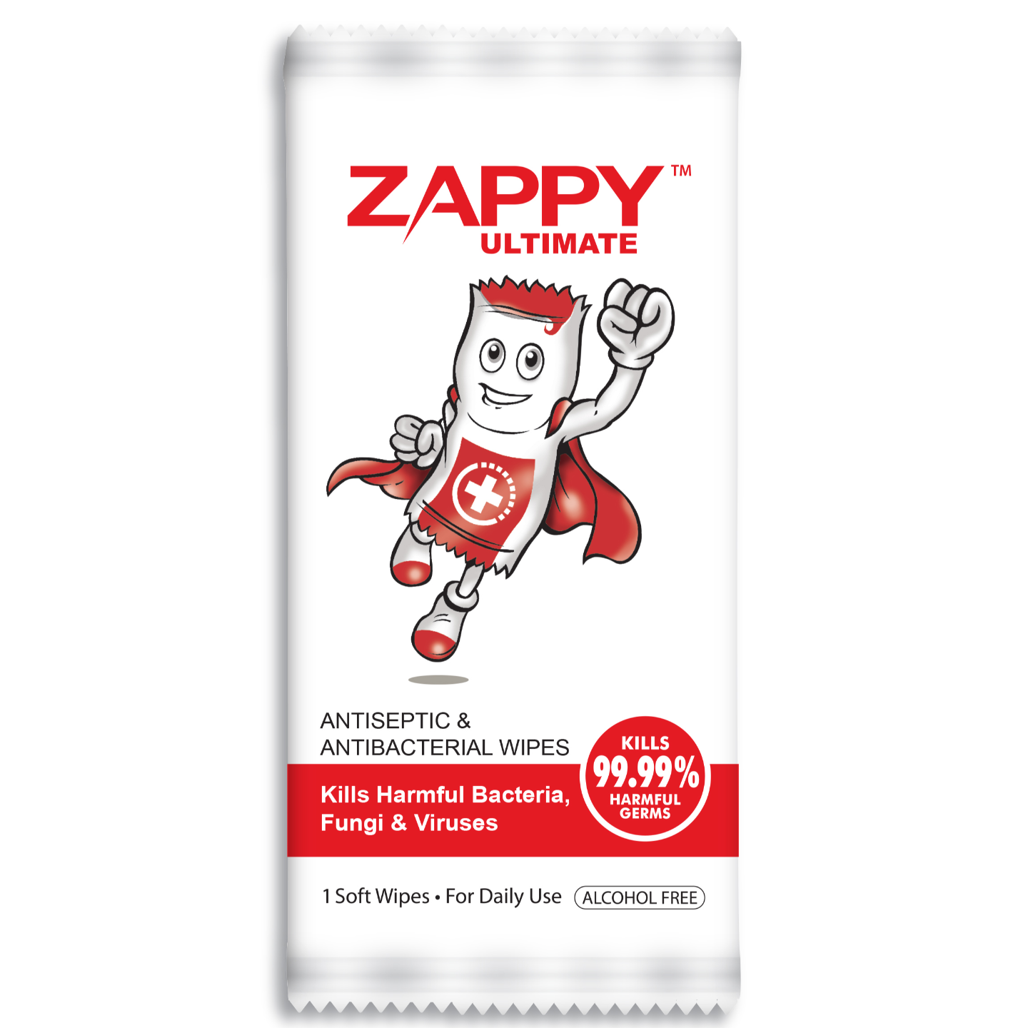 Zappy Ultimate Antiseptic Wipes 1s x 100 sheets