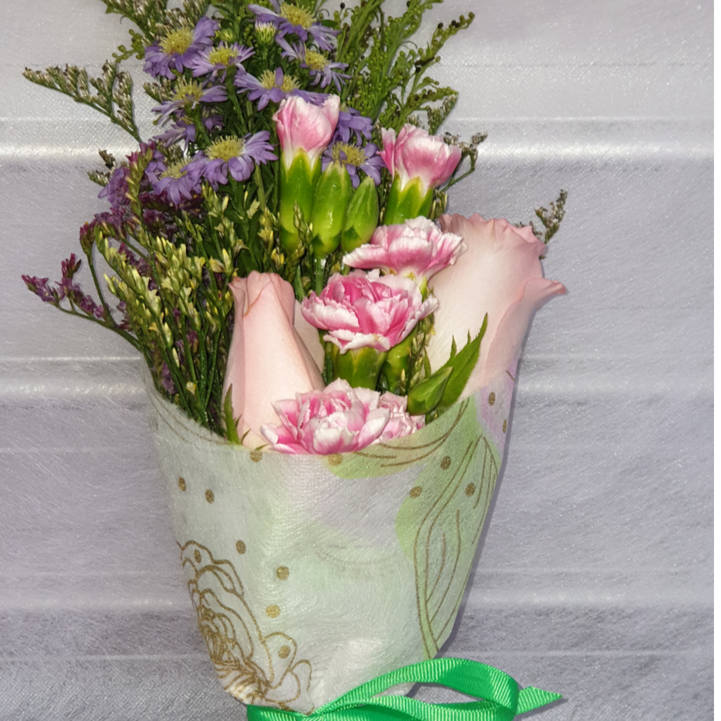 Vflowers Pink Sushi Wrap