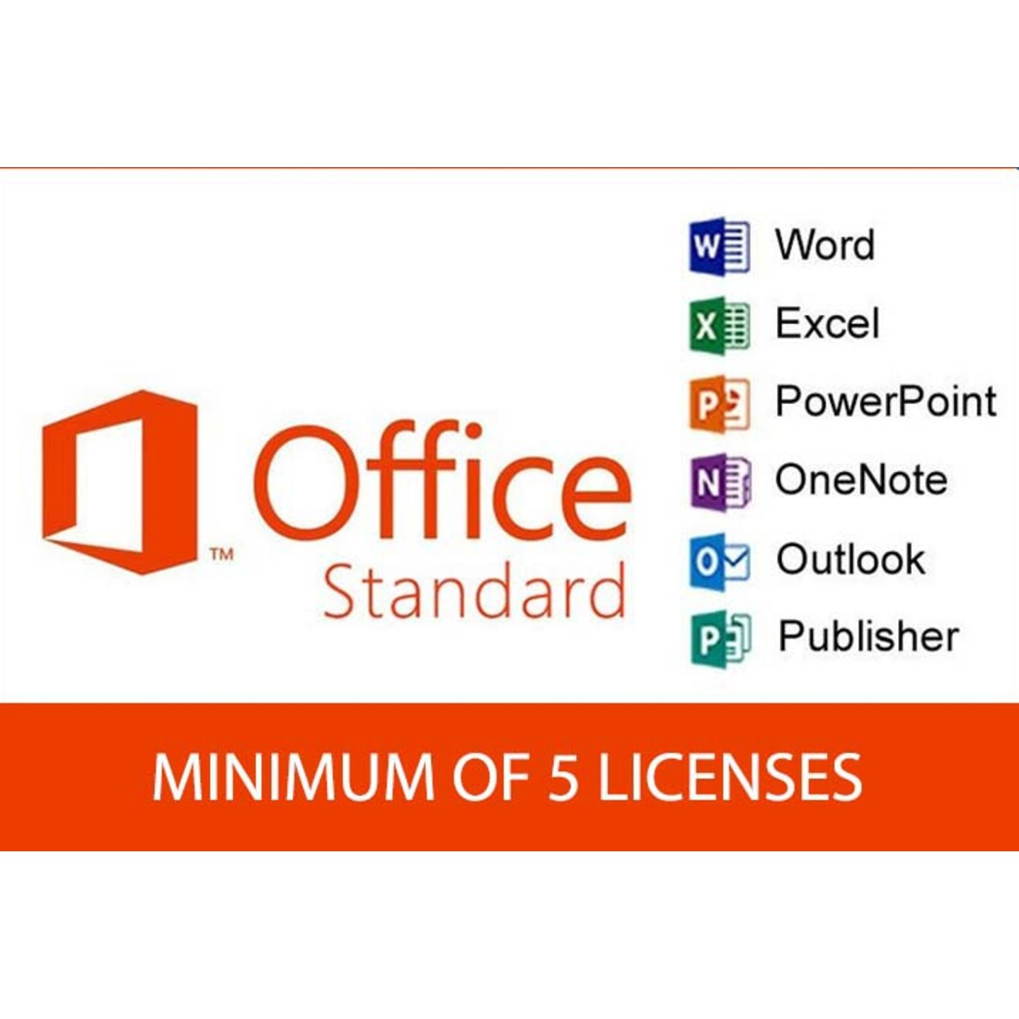 MICROSOFT OFFICE STANDARD (5 LICENCES)