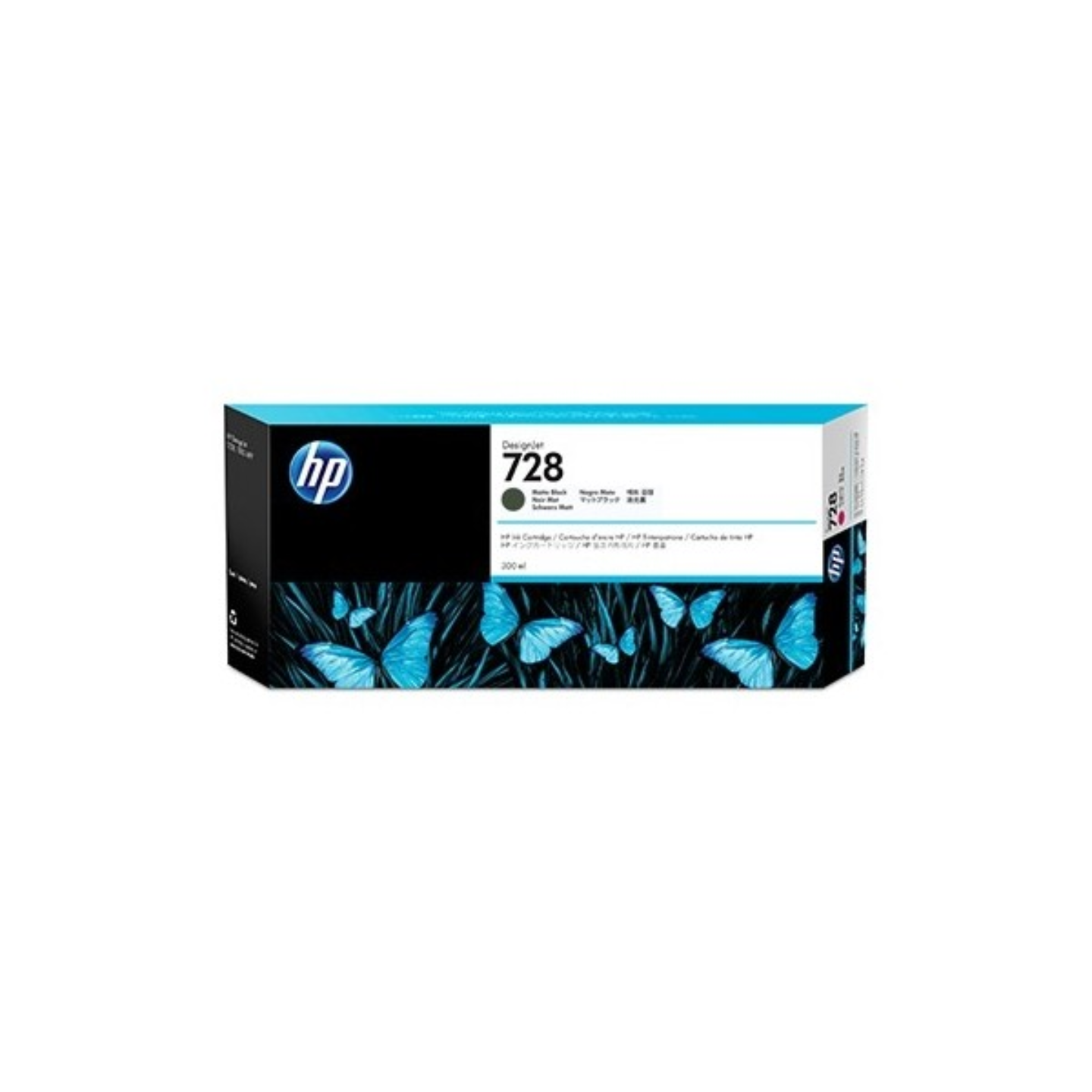 HP-728 Matte Black Ink Cartridge - 300ml
