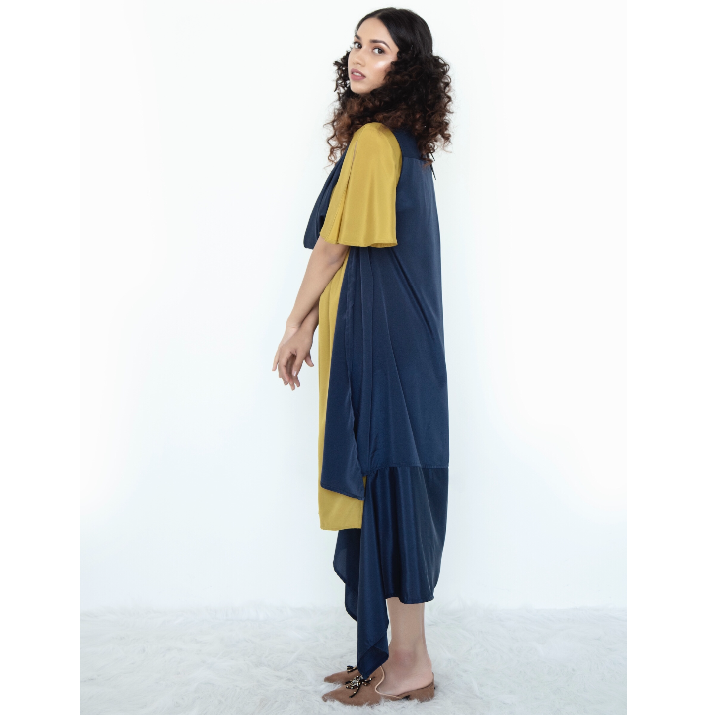 Cowl collar longline shrug