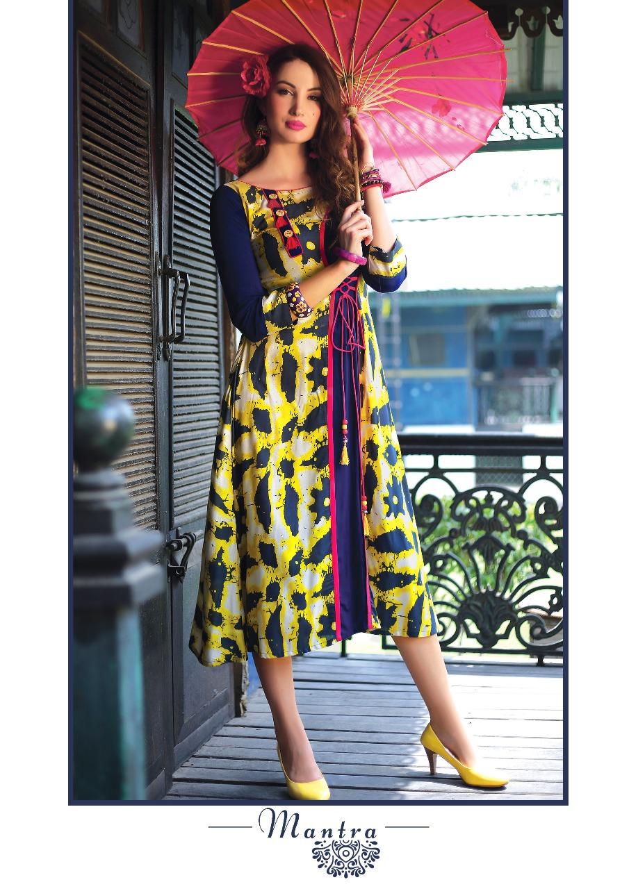 Fasdest Ladies/Women Rayon Designer Rounded Long Kurti /Kurta/Top