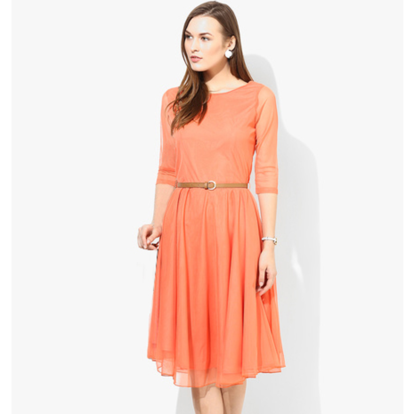 Fasdest Designer Orange Dress #Dmo02