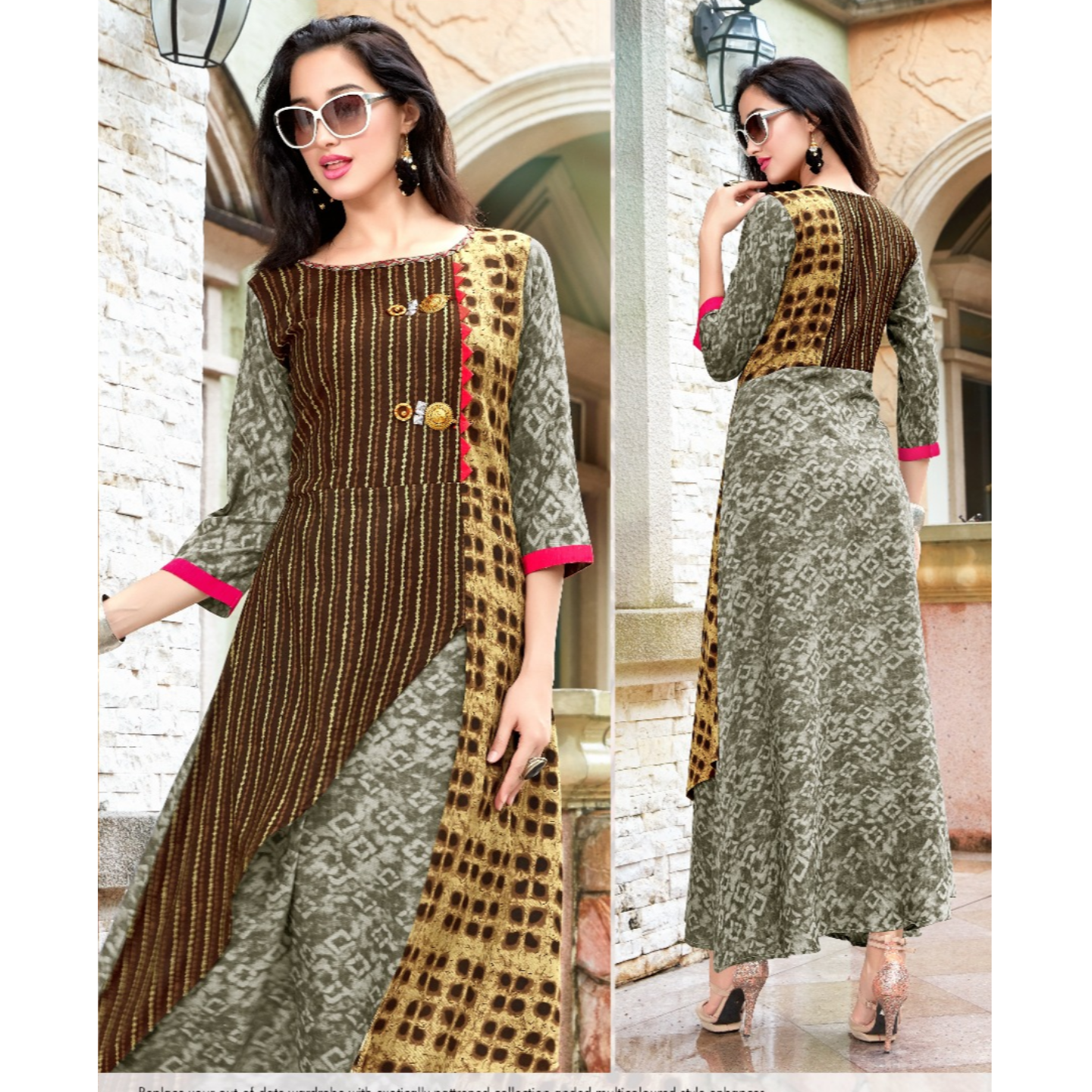 Fasdest Women/Ladies Long  Designer Rayon  Kurti /Gown/Dress