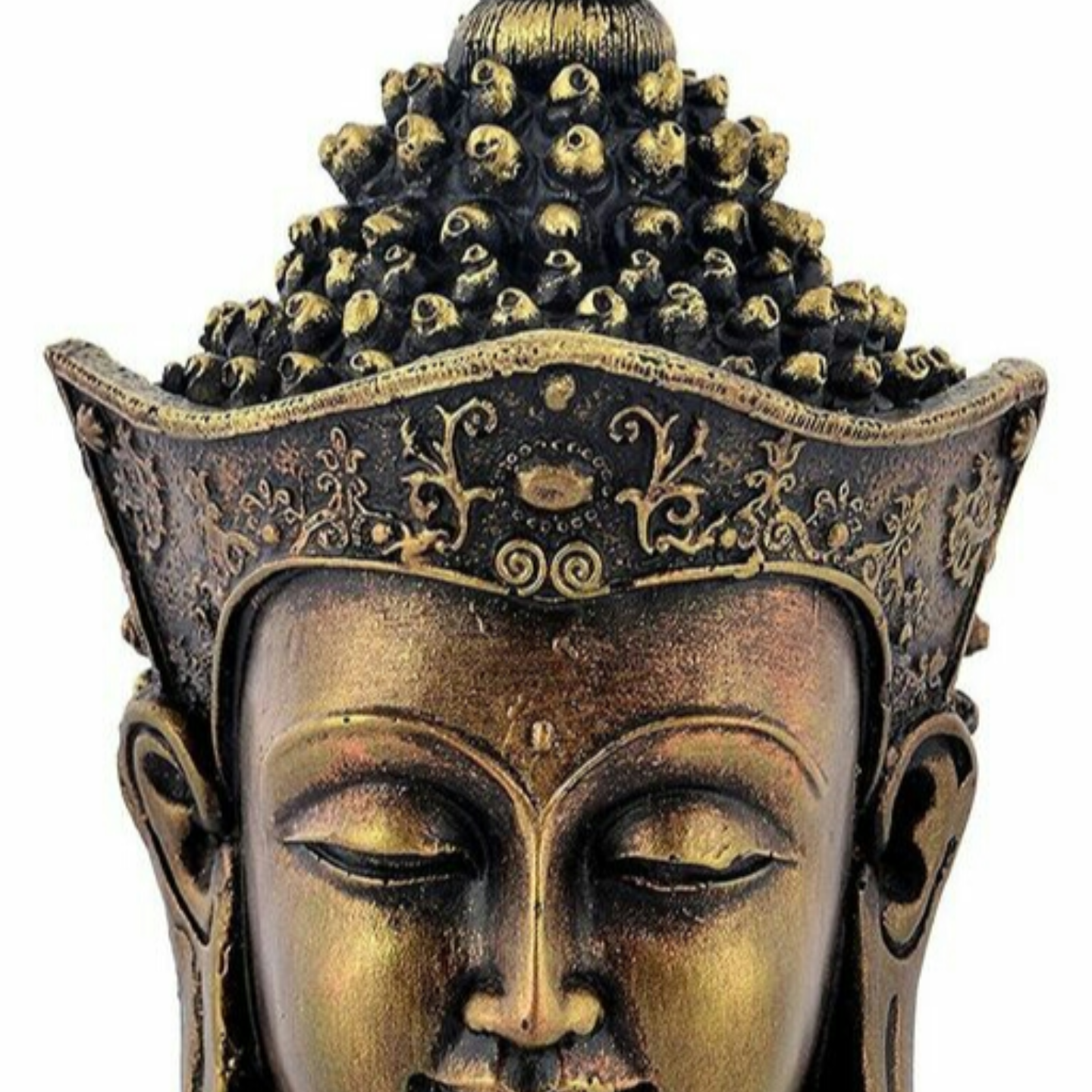 Budddha face table decor