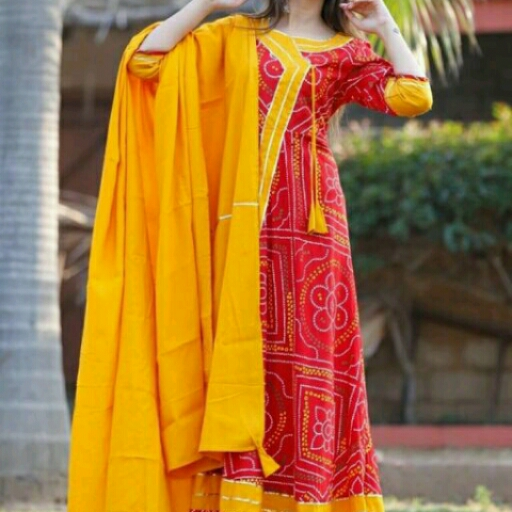 cotton kurti with duptta