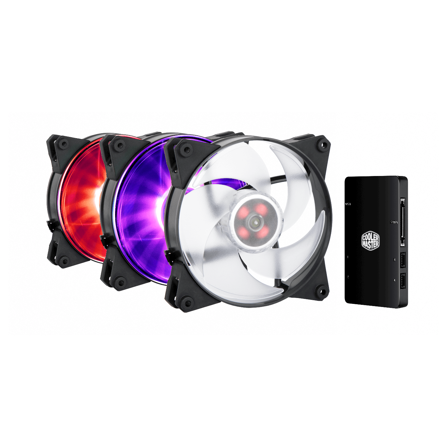 Coolermaster MasterFan Pro 140 Air Pressure RGB 3 in 1 with RGB LED Controller