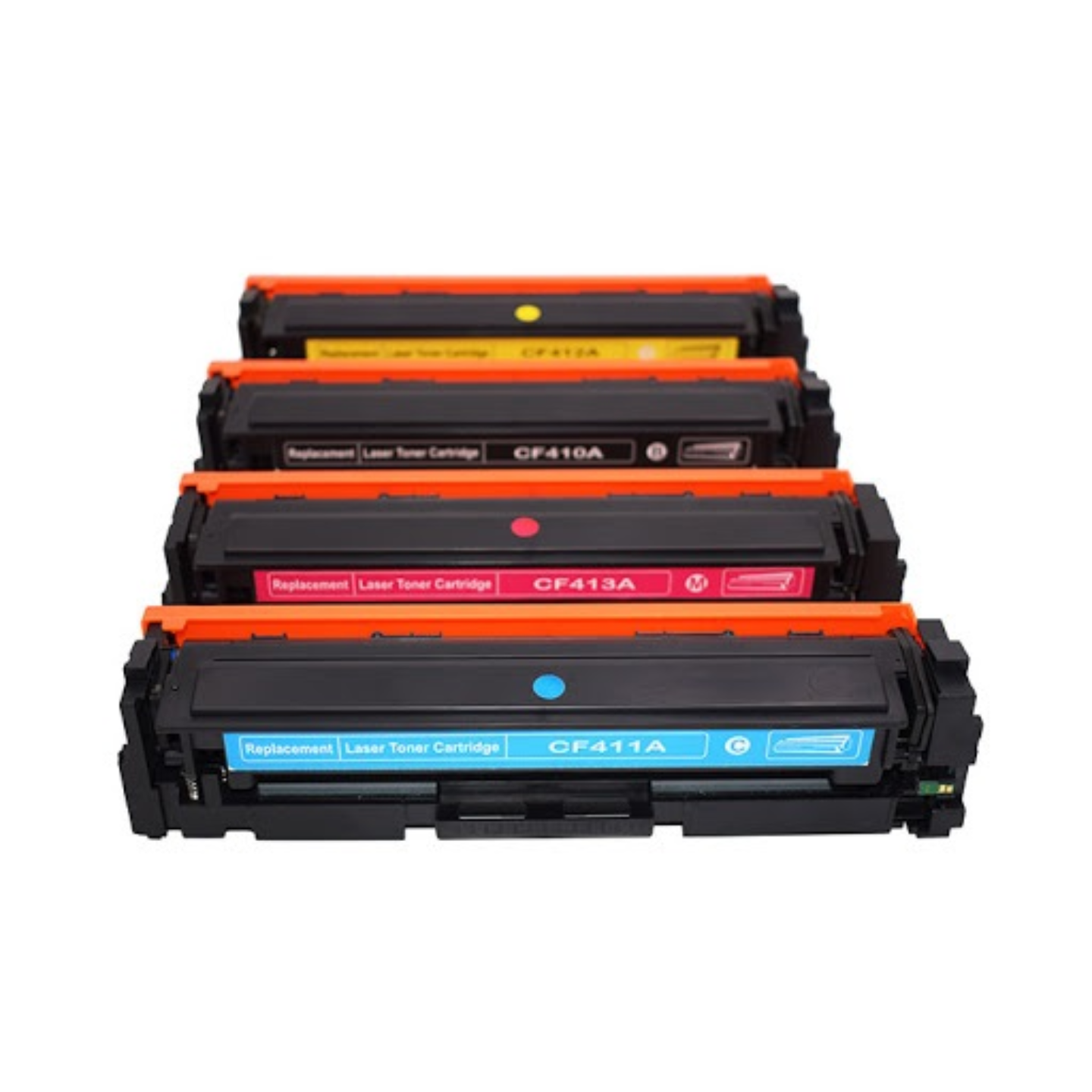 Compatible Toner for HP Printers CF410A/CF411A/CF412A/CF413A (CYMB Set)