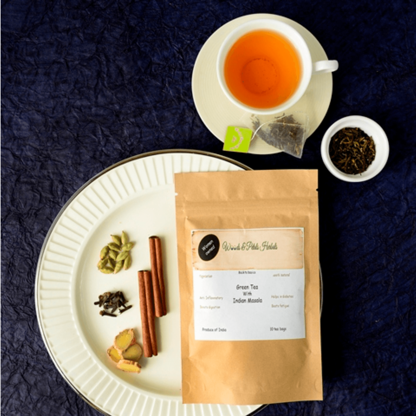 Darjeeling Green tea with Indian Masala