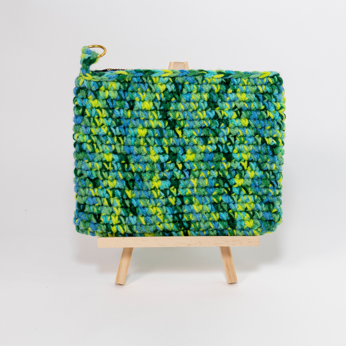 Green Travel Pouch (Variegated)