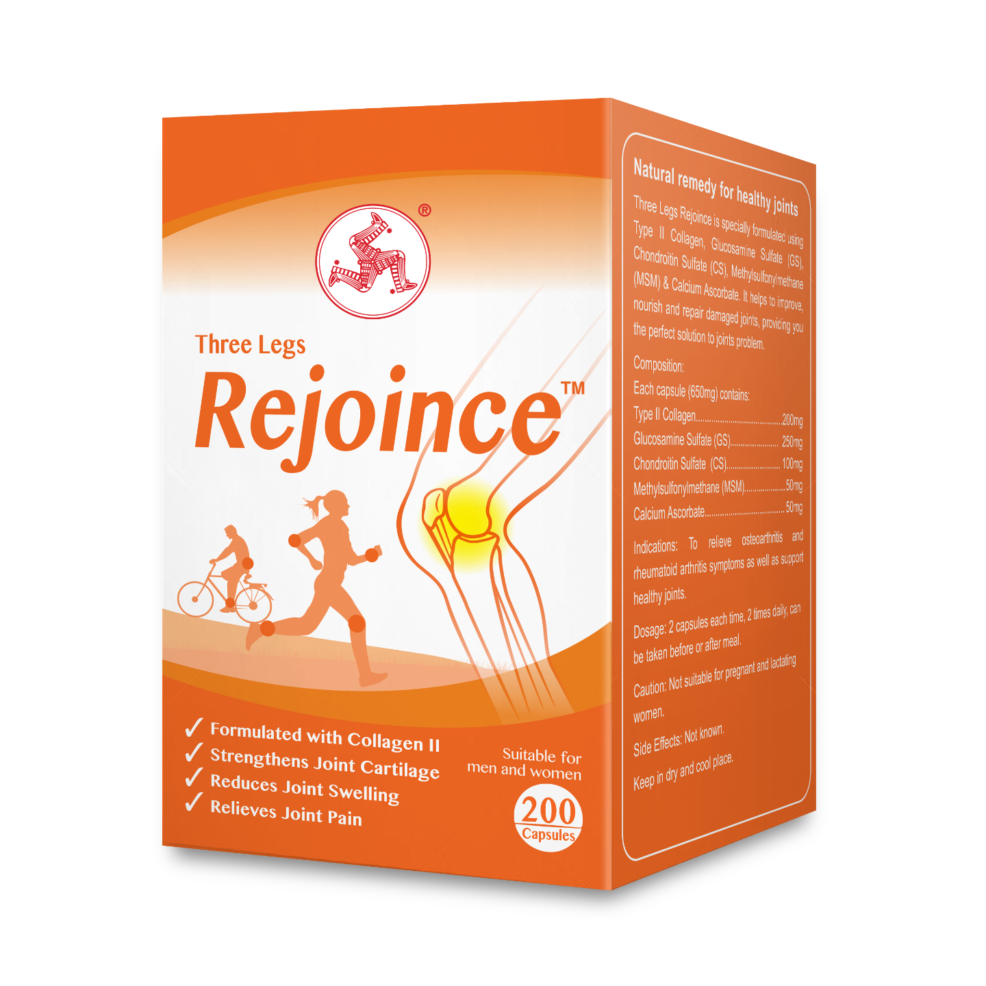 Rejoince Available in 60 or 200 capsules