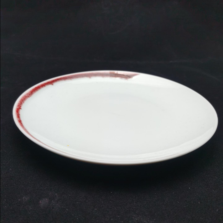 Under-glaze Red Basic Round Plates - (150mm)