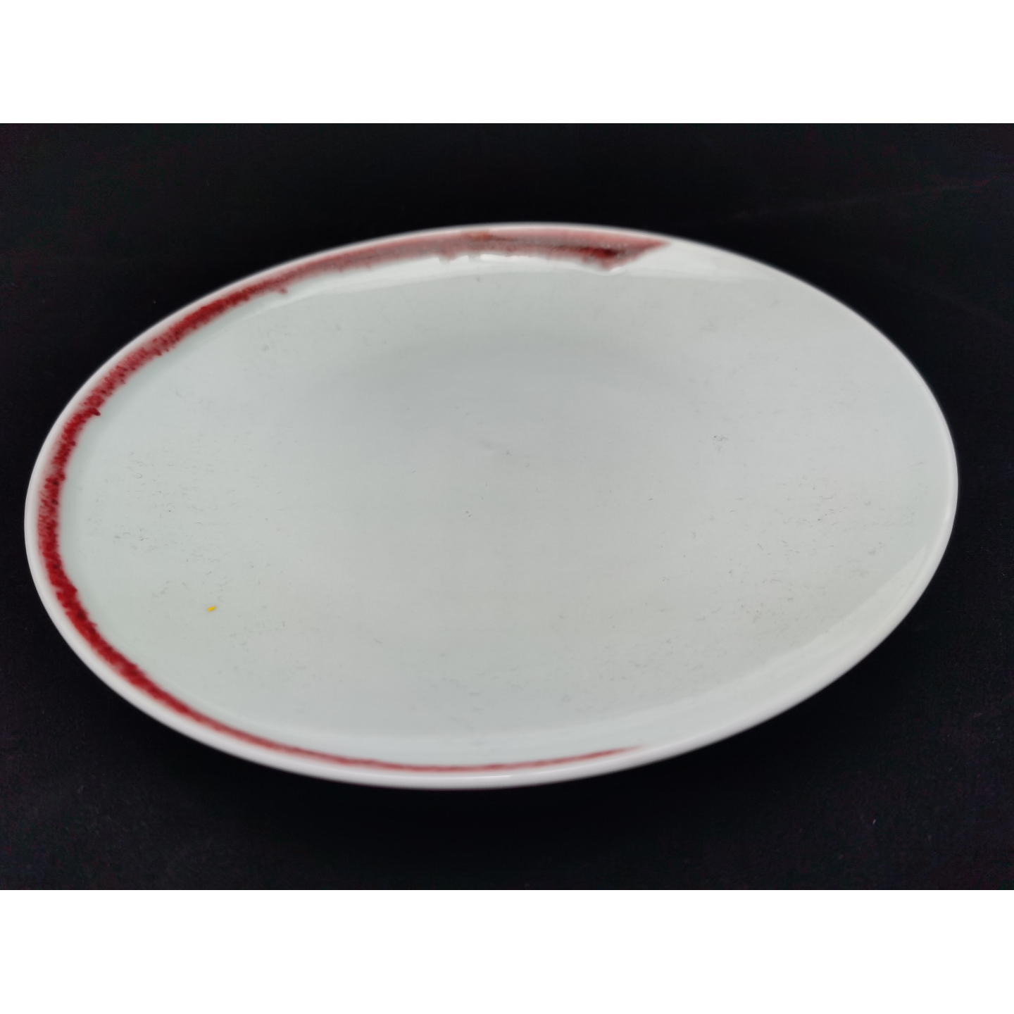 Under-glaze Red Basic Round Plates - (270mm)