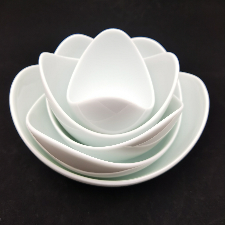 Green White Lotus Bowl