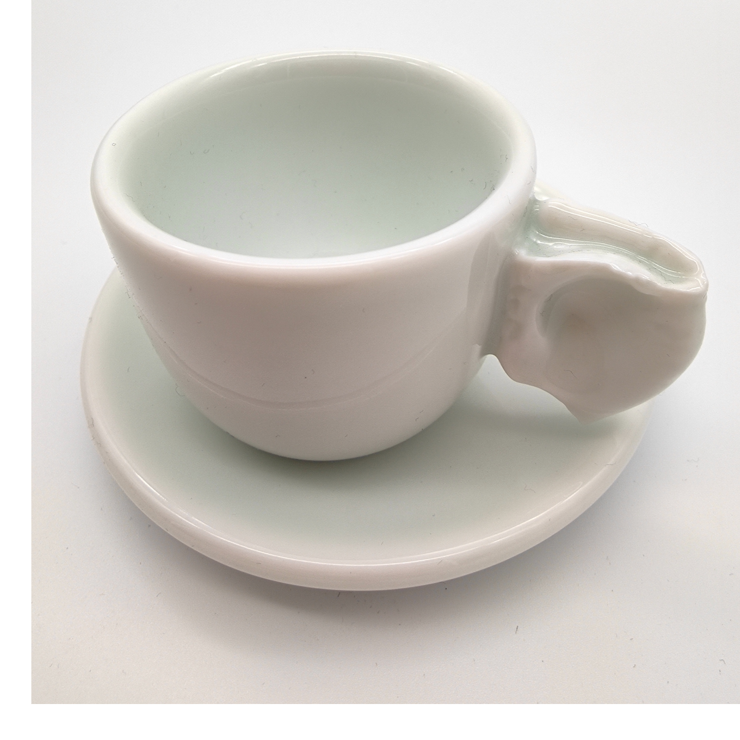 Green White Snatched-Ear Espresso Cup