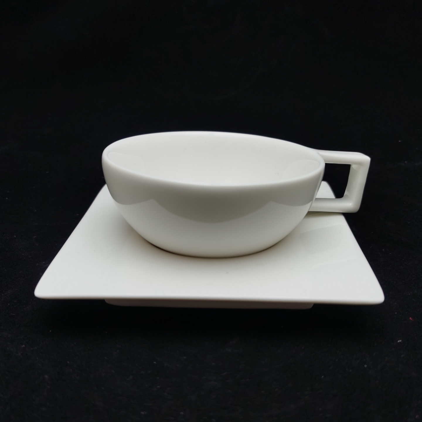 Reinforced Bone China Geometric-Shaped Coffee Cups - Semi Spherical