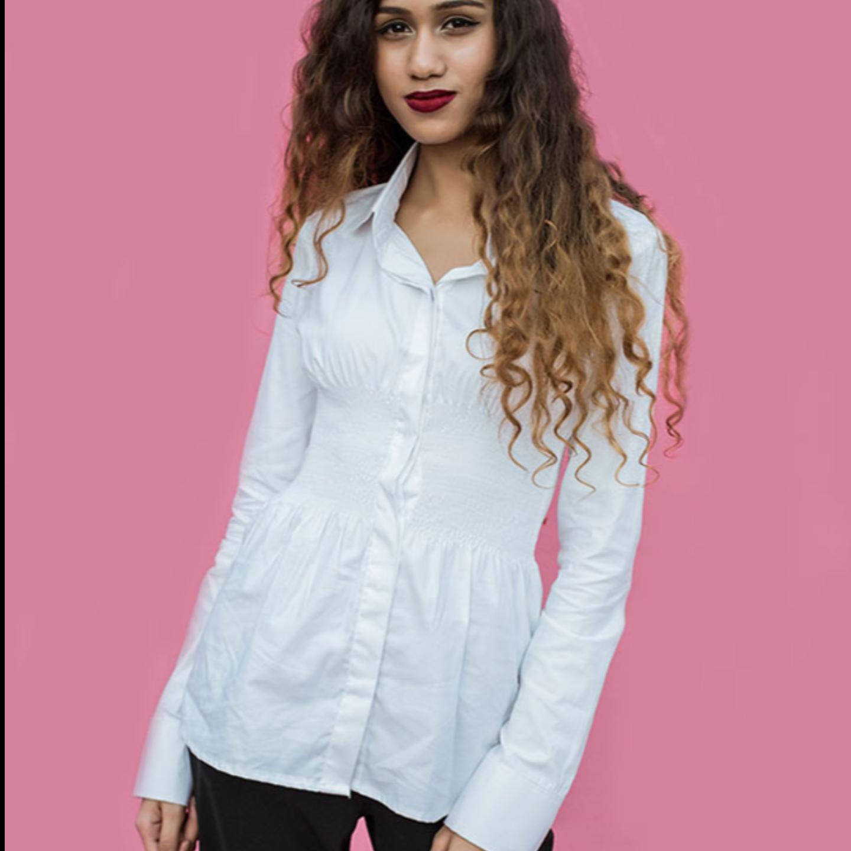 Faux Corset White Shirt