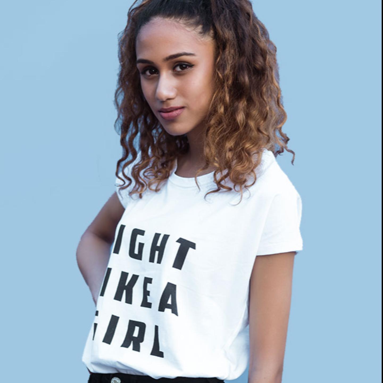 Fight Like A Girl White Tshirt