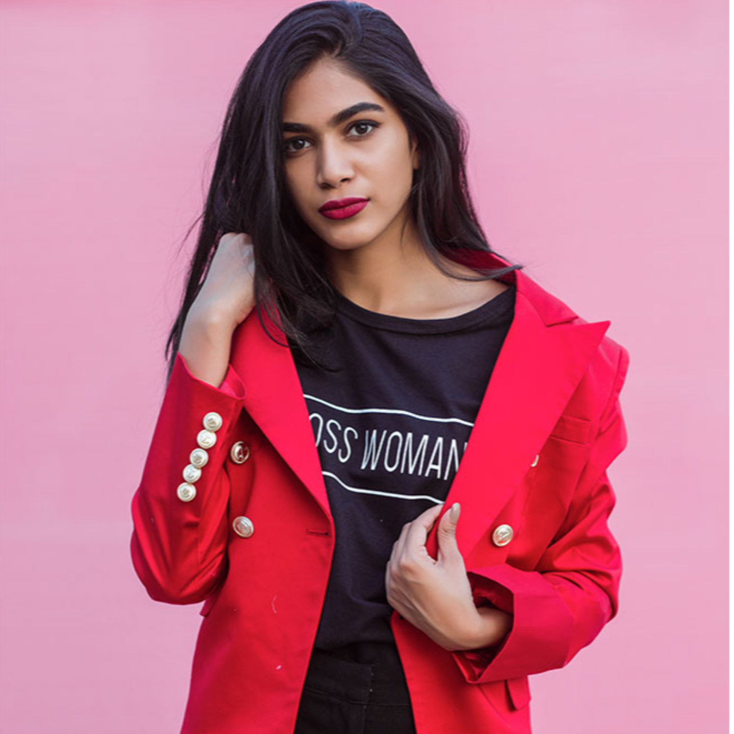 Rouge Signature Double Breasted Red Blazer