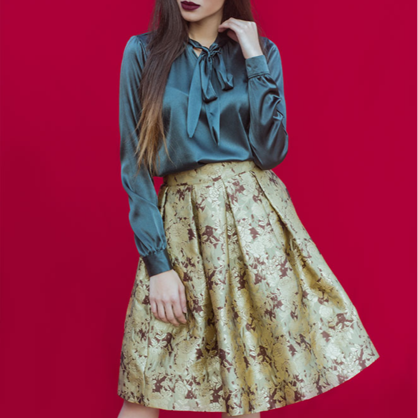 Brocade Gold French Style Skirt