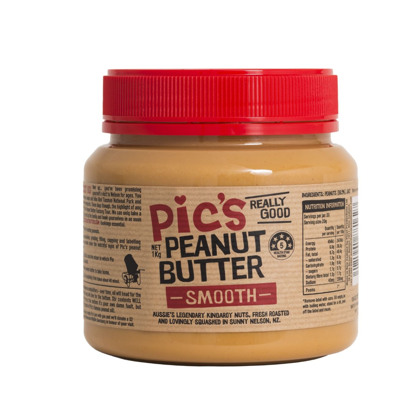 Pic's Peanut Butter Smooth 1kg