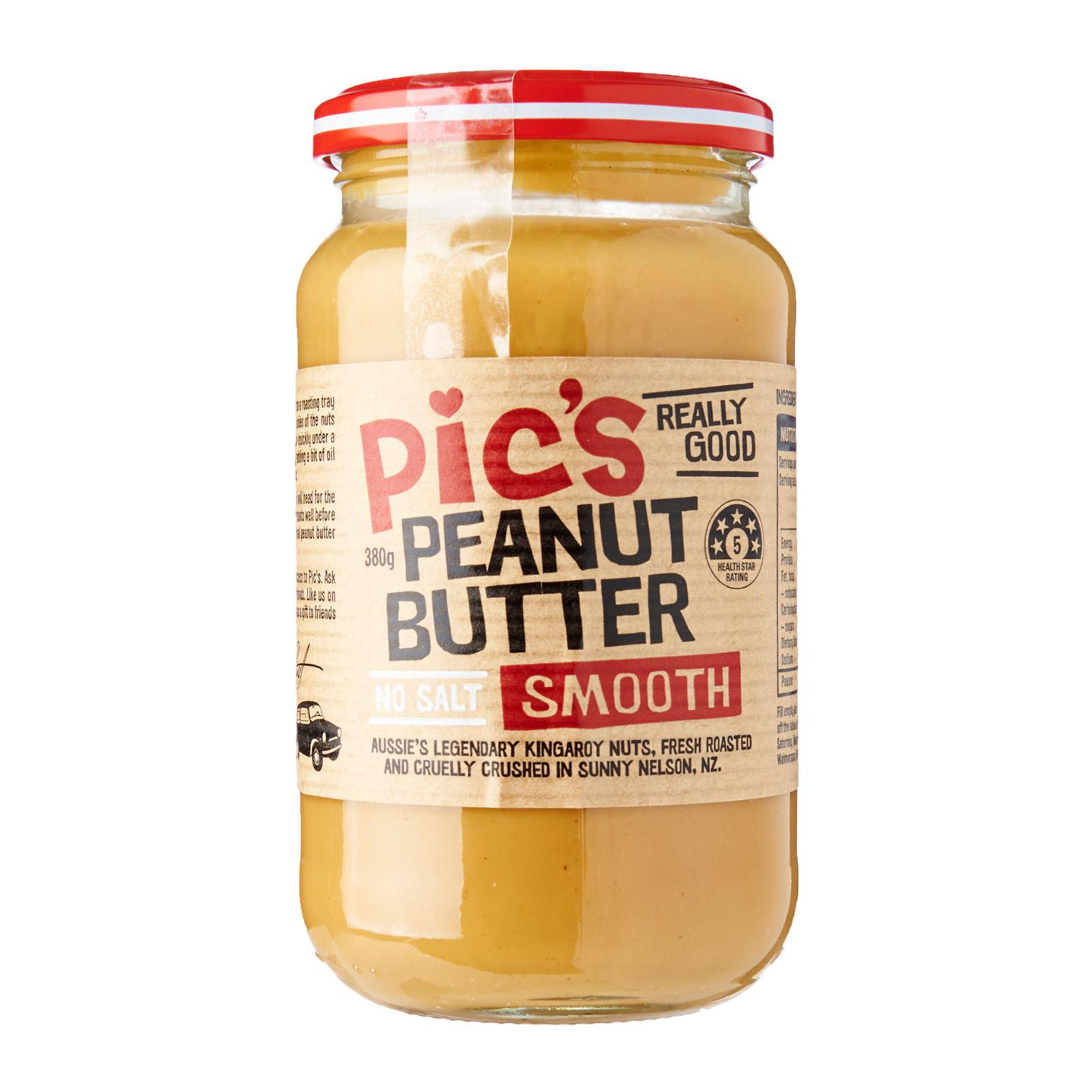Pics Peanut Butter Smooth No Salt 380g