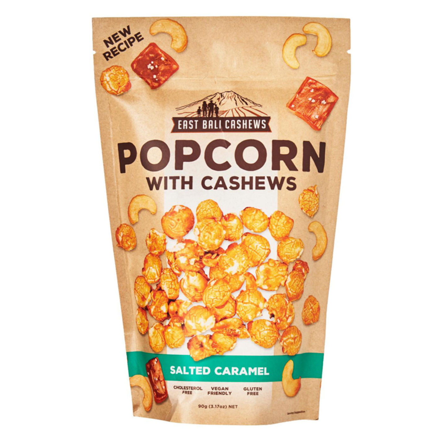 East Bali Cashews Salted Caramel Popcorn with Cashews 90g