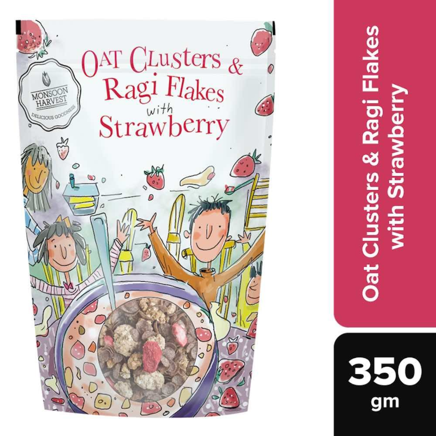 Oat Clusters & Ragi Flakes with Strawberry