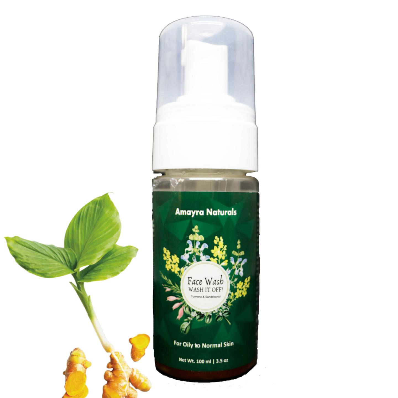 Amayra Naturals  Face Wash(Turmeric & Sandalwood)