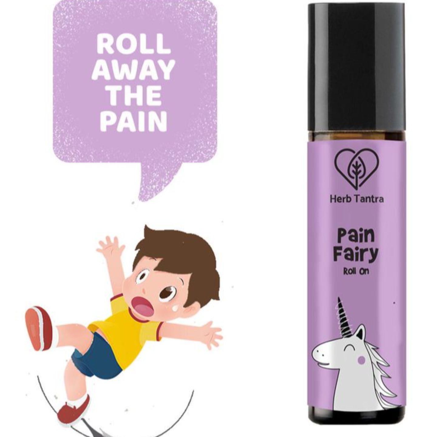 Herb Tantra Pain Fairy Roll On Pain Relief For Kids (9 ml)
