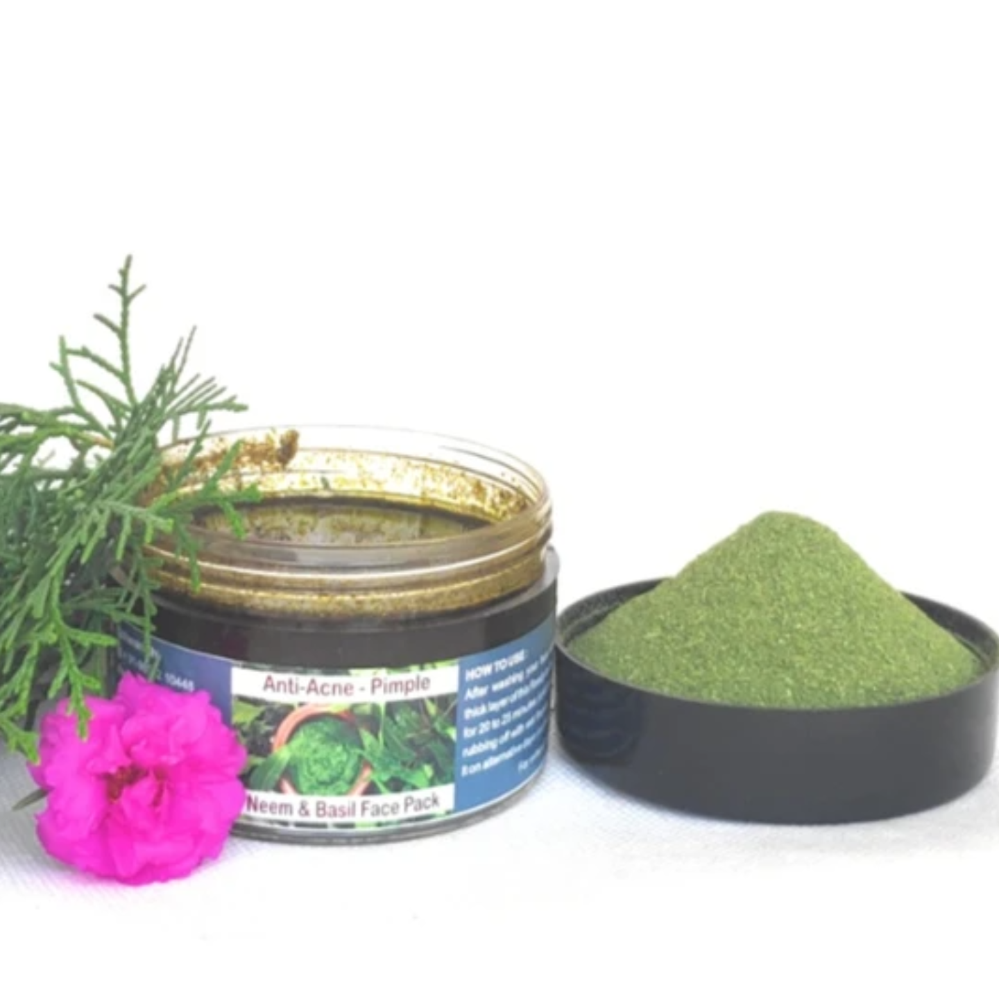 Neem & Basil Anti Acne-Pimple Ready to Use Face Pack