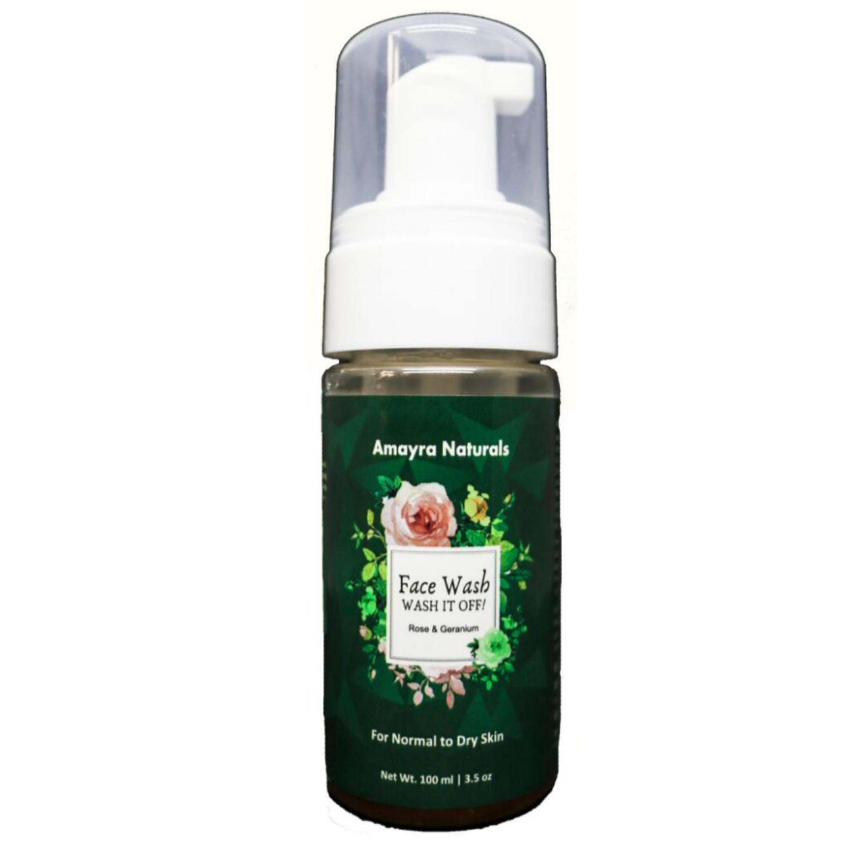Amayra Naturals Face Wash(Rose Geranium)
