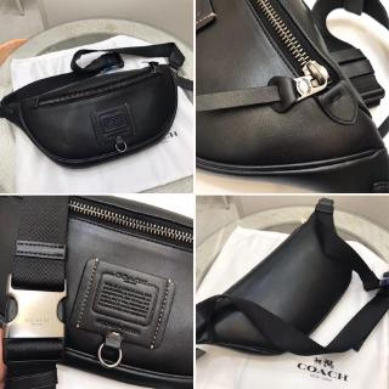 (SG COD) COACH Men's Waist Pouches F37591 F78899 chest bag waist bag Messenger Bags casual Waist Pouches