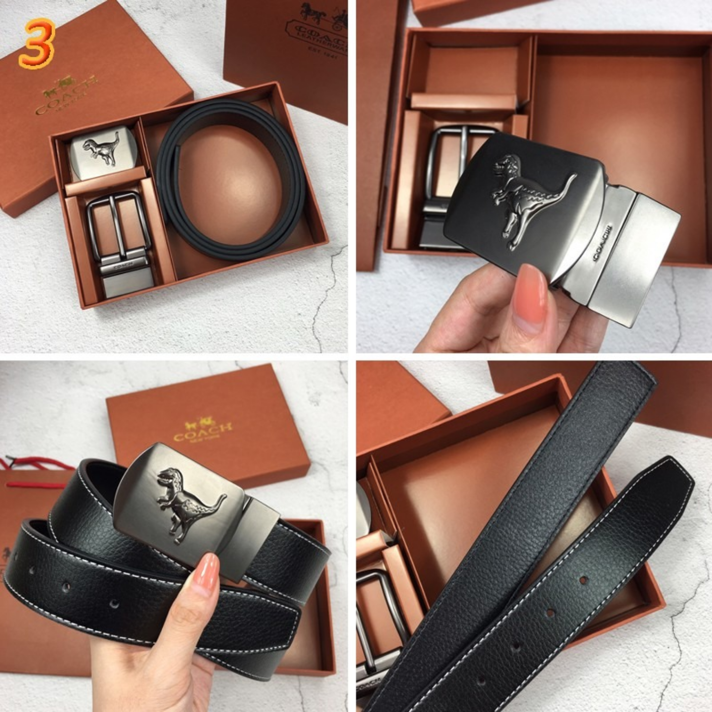 Original  coach Mens Belt Accessories Belt Leather Belt
