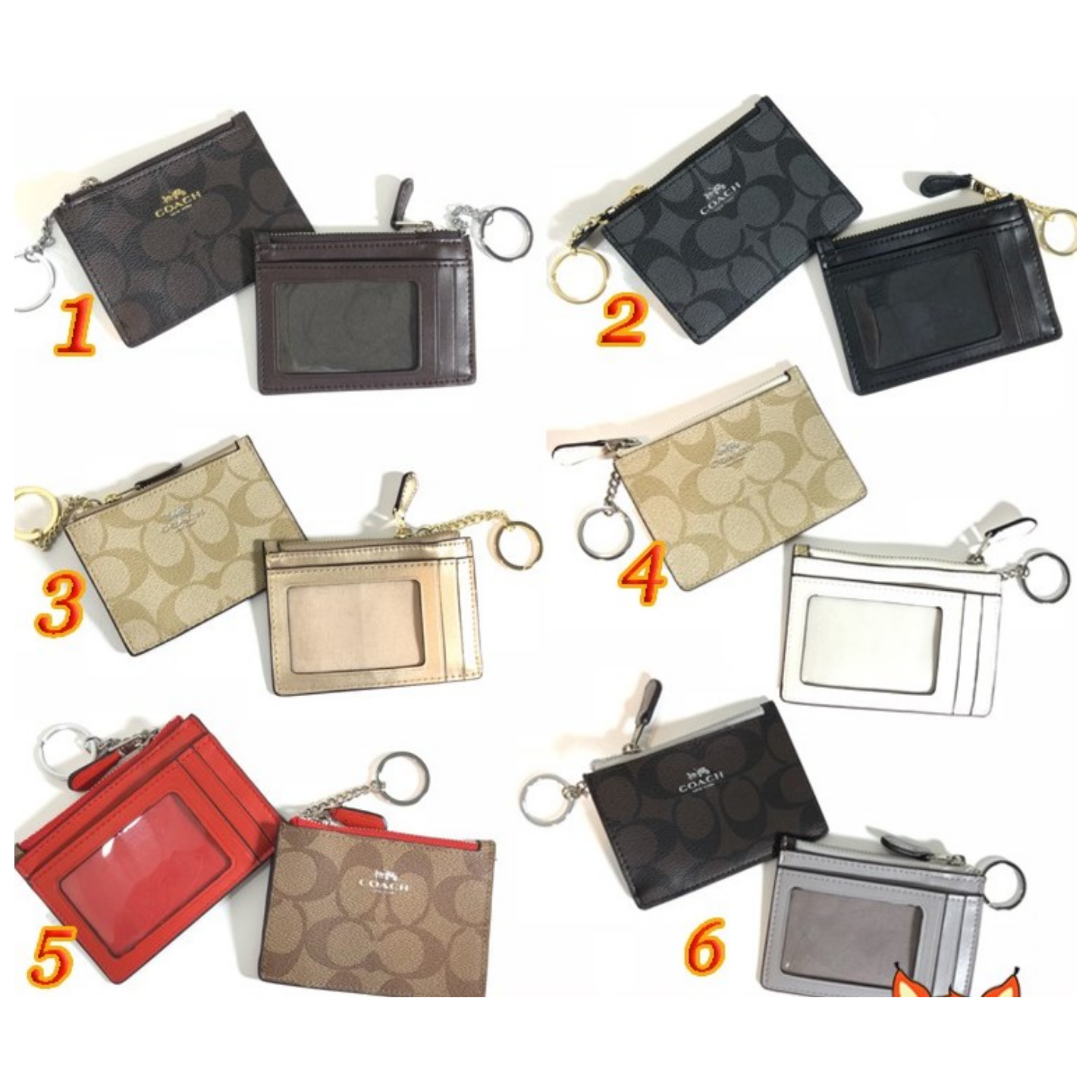 (SG COD)  6 colors / Coach brand card package / card package / card holder