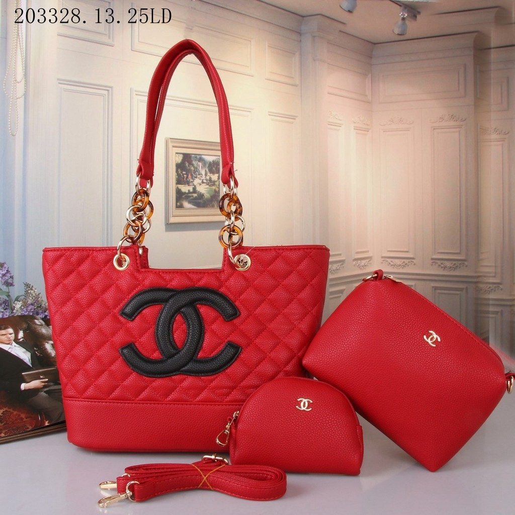 Chanel Fashion litchi print logo lady handbag