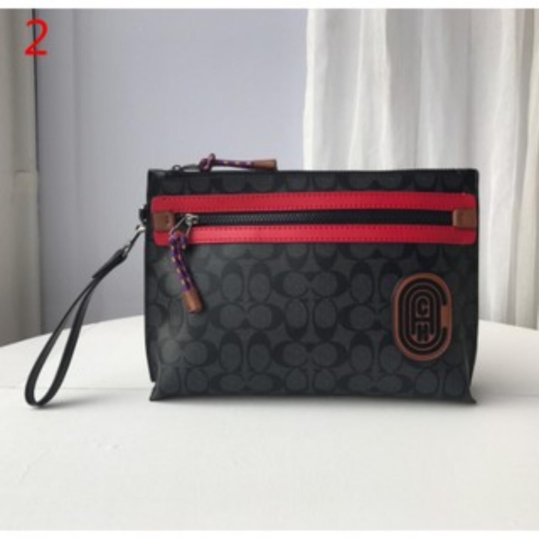 (SG COD) COACH 69213. Men's large wrist bag. Large capacity