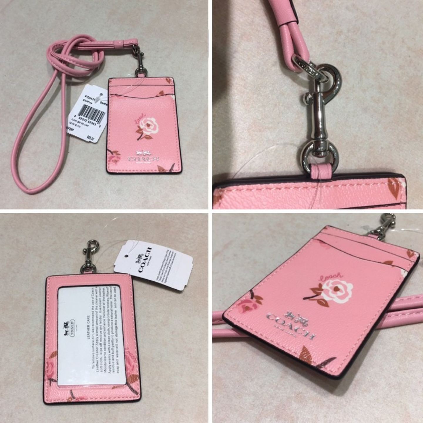 12 colors  Coach brand cardholder F26654 F32475 F58634 F65573 work card leather work card