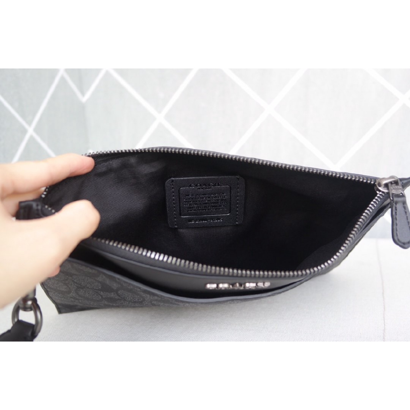 Men's Clutch Coach Bag F91285 Bag Small Clutch Clutch Bag Leather Clutch Bag