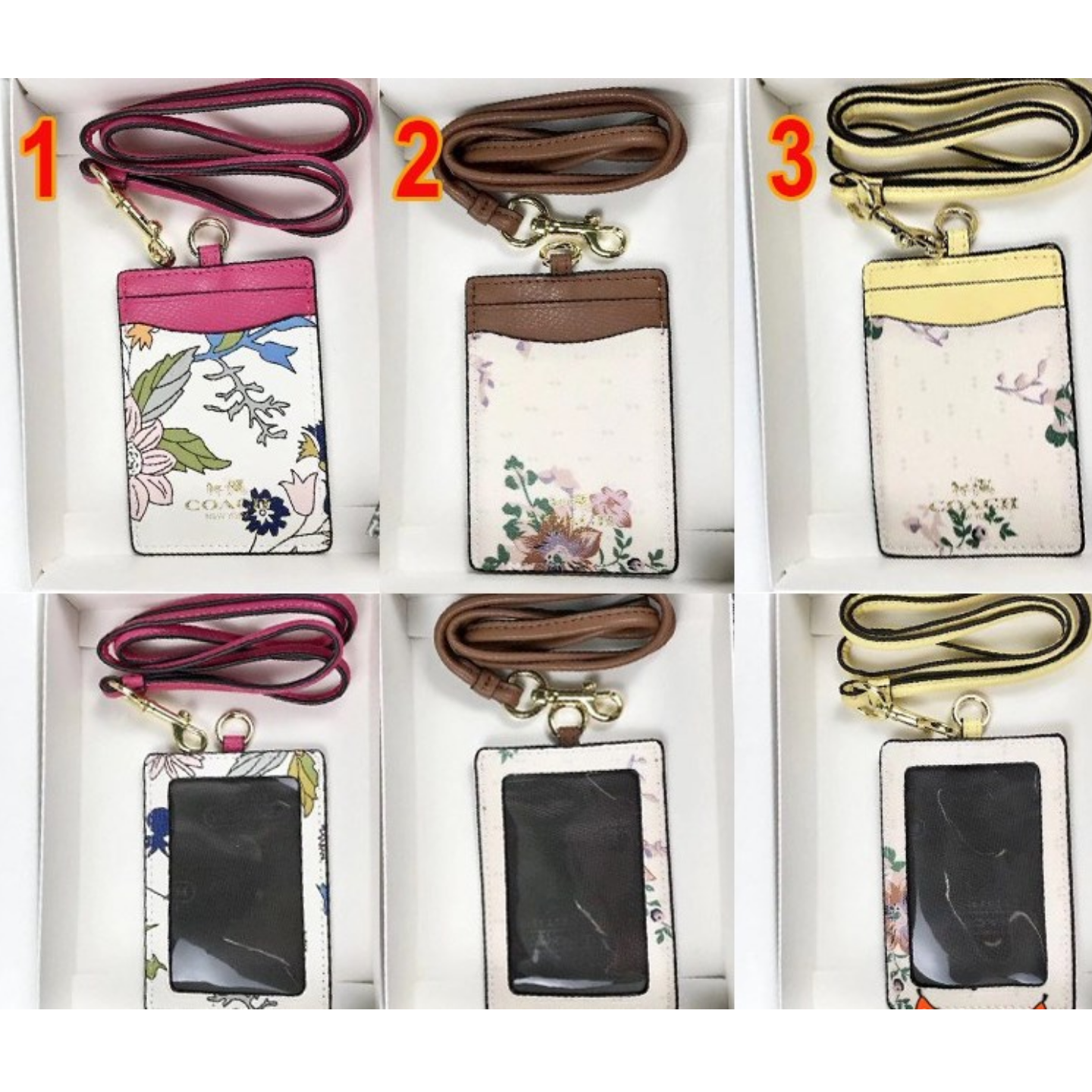 (SG COD)  Coach  (Limited time sale in 2020) Work permit card holder leather change card holder document holder with lanyard