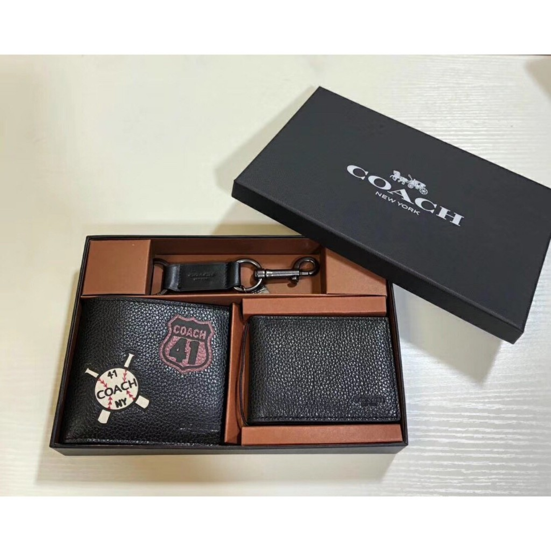 (SG COD) Coach  Men's wallet F24655 badge wallet short wallet