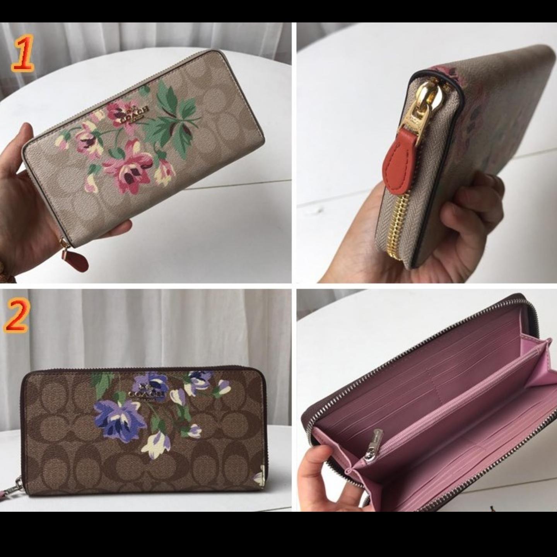 Wallet F73345 flower pattern long coach wallet zipper long wallet