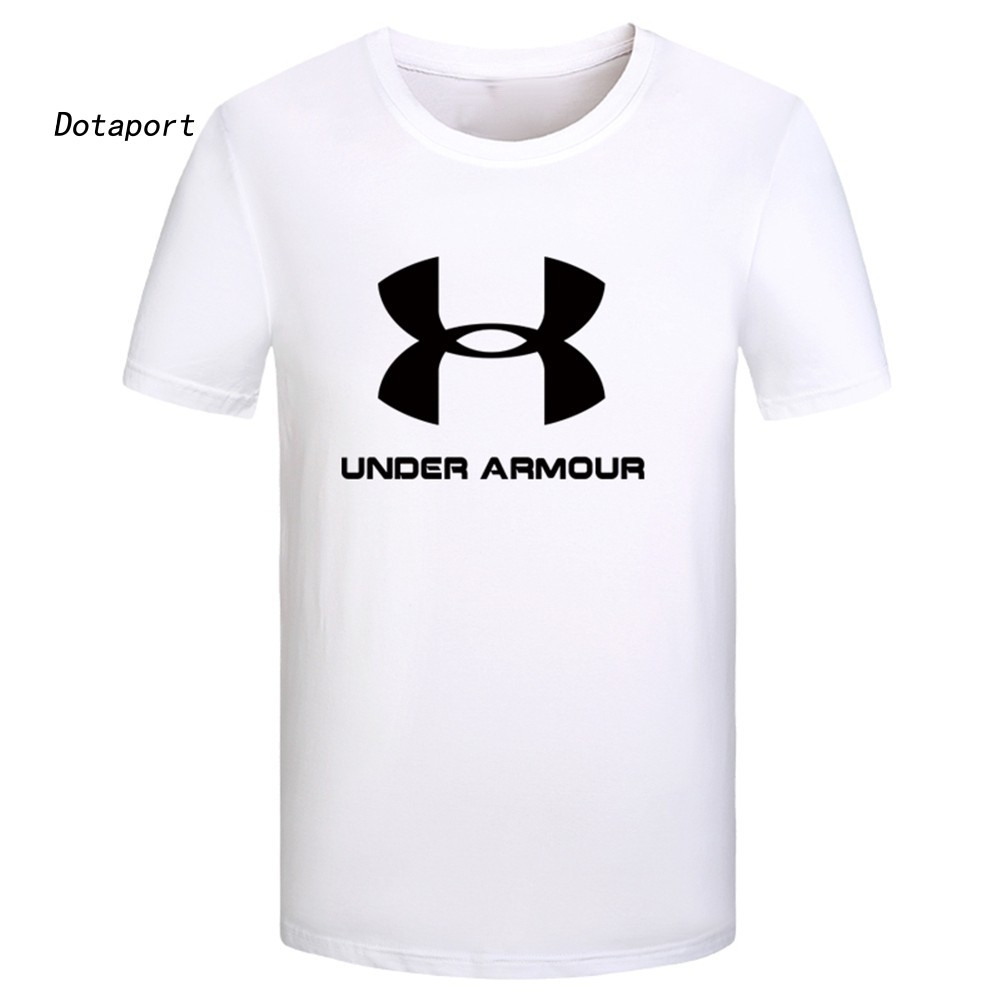 Under Armour T-Shirt Men Round Neck Short Sleeve Top