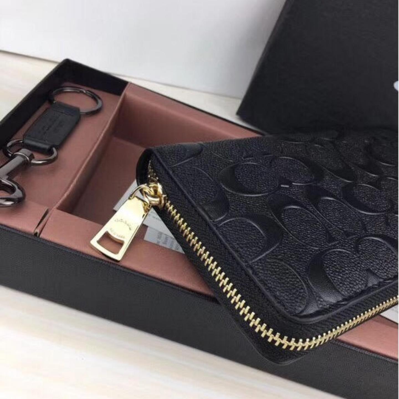 Wallet F53834 Womens Long Wallet Zipper Long Wallet