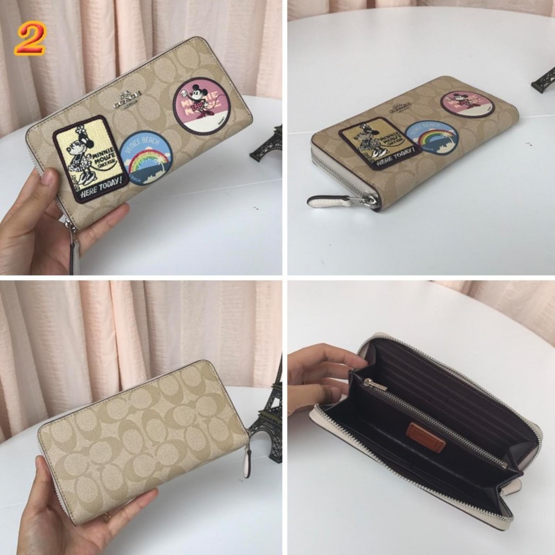 (SG COD)  F29380 Mickey Women's Long Coach Wallet Pattern Long Wallet